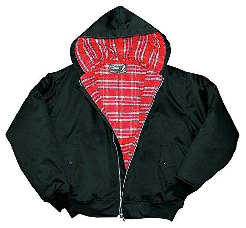 Harrington Jacke Hooded Kapuzenjacke verschiedene Farben und Größen Frühlingsjacke Herbstjacke L,Schwarz -