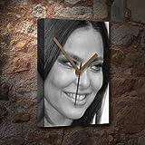 SEASONS ORNELLA MUTI - Canvas Clock (A5 - Signed by the Artist) #js005