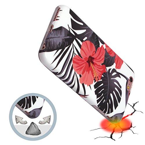 Panelize iPhone 6 Plus Palme Hülle Schutzhülle Handyhülle Hard Case Cover Kratzfest Rutschfest Durchsichtig Klar (Palme 2) Palme Blüte