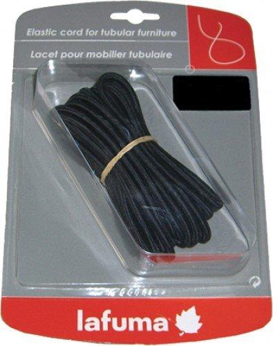 Lafuma Lacet élastique universel, 8 m de longueur, Pour fauteuils pliables, Pour fauteuils Lafuma SIESTA, Couleur : Blanc, LFM24050020