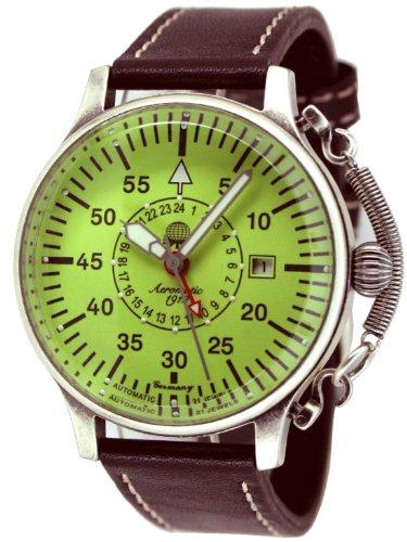 """Automatik Flieger Uhr """"24h Anzeige-Spez.Feder-Kronensicherung-luminous Ziffernblatt"""" A1396"""