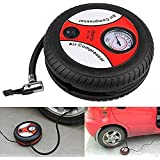 GosFrid New Universal Portable Mini 12V Car Air Compressor Pump Tire Inflator Pump 260Psi with Nozzle Adapter Motorcycle Auto Pump - 1Pc