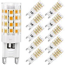 LE 10 Pezzi Lampadine LED G9 5W, Pari Alogene da