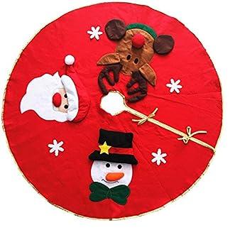 Cosanter Falda del Árbol Navidad Muñeco de Nieve Papá Noel para Decoraciones de Navidad Base del árbol de Navidad