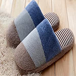 Mode couleur bonbon confortable mignon doux chaud automne pantoufles et hiver amoureux pantoufles maison Noël chaussons size43-44 pantoufles en peluche