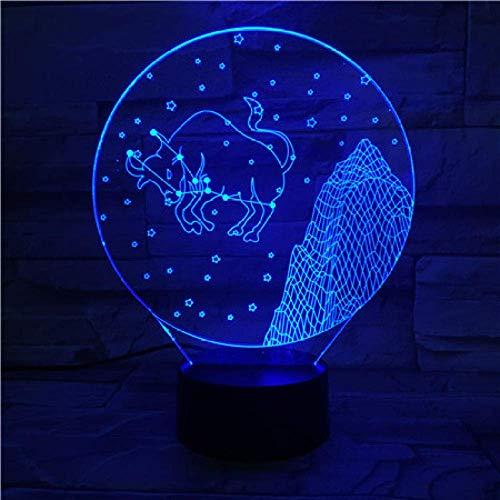 Western Zodiac Signs Night Light Led