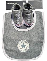 5b3bd6ba31b Converse Baby Boys  Bib   Bootie Socks Set - Grey