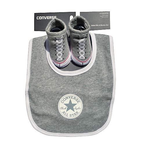 Converse Chuck Taylor Grey Bib & Bootie sock set 0/6 months