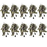 10PIECES retro ottone box gambe piedi paraspigoli in lega di zinco testa di cavallo goffratura Decor Jewelry Gift Box di legno vintage