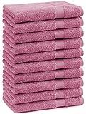 10er Pack Gästehandtücher Gästetuch Premium Größe 30x50 cm 100% Baumwolle Farbe Altrosa