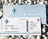 Boarding Pass N04 Hochzeitskarte für Geldgeschenke