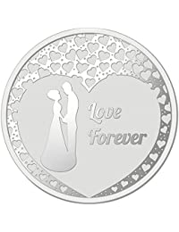 IBJA Gold Valentine Couple Silver Coin Frames for Women (IG20GMS999WISH077)