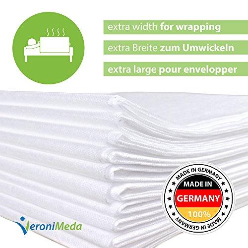 VERONIMEDA Massageliege Bezug (5 Stk) / Waschfaserlaken für Massage 4 JAHRE LEBENSDAUER / Massageliege Auflage (200 x 160cm) / Massagetisch Bezug (50g/m² Vlieslaken) Laken für Behandlungsliege