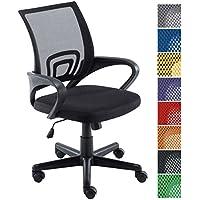 CLP Silla de escritorio GENIUS. Silla giratoria con altura regulable. Asiento acolchado y con tapizado con tela en red transpirable. Disponible en diferentes colores. negro
