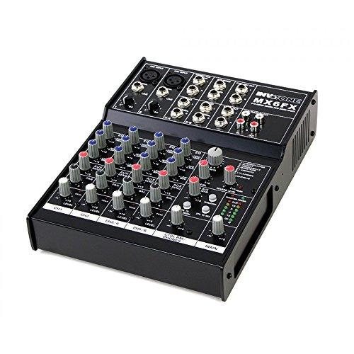 Invotone MX6FX Mixer DJ 6Kanal DSP Multieffektgerät 2x Mic (Befehl Mic)