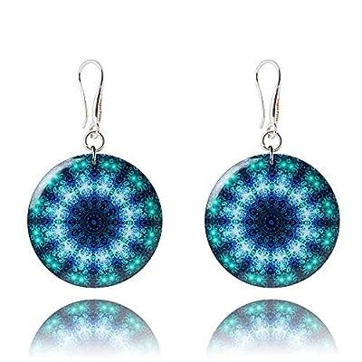 Boucles d'Oreilles de Couleur Violet Bleu et Iris pour Votre Petite Amie
