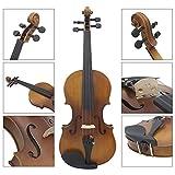 ammoon 4/4Full Size Violino Fiddle legno massello finitura opaca abete Face Board ebano Fretboard corde strumento con custodia rigida Bow Rosin Panno Pulito