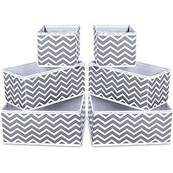 Bacs de Rangement en Tissu pour pépinières, Bureaux et organisations à la Maison, Les contenants sont Faits sur Mesure pour Les organisateurs de Cubes Standard (28X28X28CM) Chevron Aqua - Lot de 2