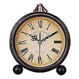 vap26 Retro Estilo Europeo Sobremesa Moderno Decorativo Redondo Estampado Floral Reloj Despertador - 5, Free Size
