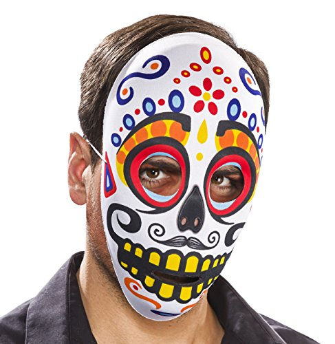 Textil-Maske -Tag der Toten-, männlich