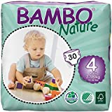 Bambo Nature Maxi Size 4 (15-40lb / 7-18kg) Eco Nappies - 30 pieces per pack
