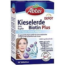 Abtei Kieselerde Biotin Plus Depot (Zink, Kupfer), 56 Tabletten - 78g