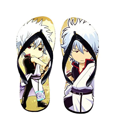 Bromeo Gintama Anime Unisex Flip Flops Zehentrenner Flip Pantoffeln 485