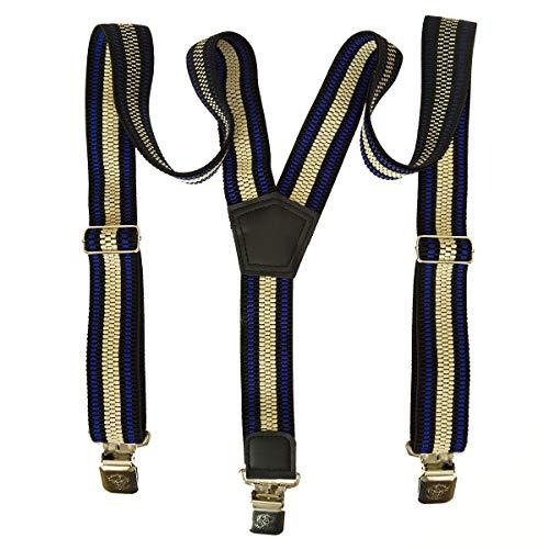 Hosenträger für Herren Damen Männer Hochwertige Breit extra starken 4 cm mit 3er Clips Y-Form modell 4 [011]