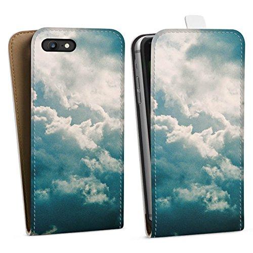 Apple iPhone X Silikon Hülle Case Schutzhülle Wolken Himmel Natur Downflip Tasche weiß