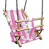 FATMOOSE Babyschaukel BeachCruiser Babysitz aus Stoff Schaukelsitz mit Sicherheitsgurt, rosa