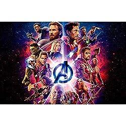 WZJ-Puzzle Marvel Film Avengers League 300/500/1000 Piezas de Rompecabezas de Madera (Color : B, tamaño : 1000pcs)