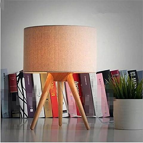 WL&F In legno di design da tavolo Lampada di arte lampada creativa lampade rt legno (Lampade Inoltre Legno Lampada Da Tavolo)