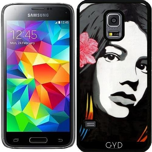 Custodia per Samsung Galaxy S5 Mini - Street Art Graffiti Ragazza Uccelli by Petra