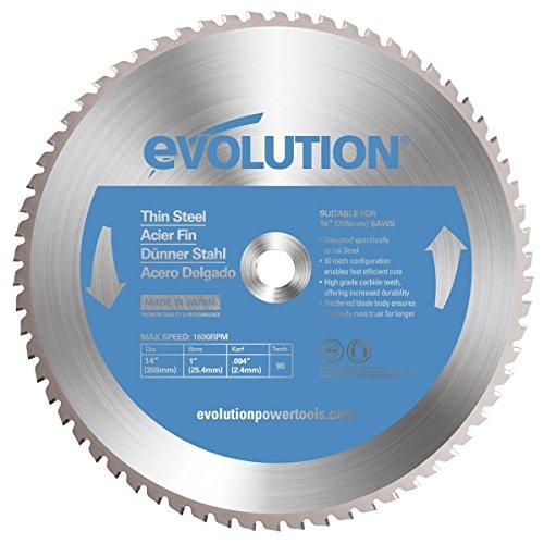 Evolution Power Tools-acciaio EVOBLADE355TS Evolution 355mm in acciaio sottile lama in metallo duro, 0V, argento, 355mm
