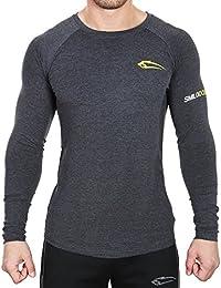 ad65bdd8ef93 SMILODOX Uomo a maniche Slim Fit lunghe 2.0 | Maglietta funzionale per lo  sport fitness Gym