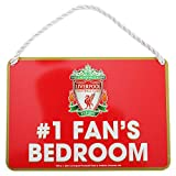 Liverpool FC Official Number 1 Fan Football Crest Bedroom Sign (One Size) (Red)