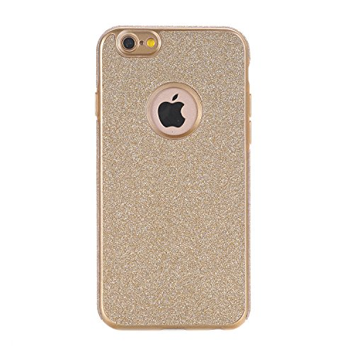 iPhone 6 / 6S Hülle, WindTeco Weich TPU Silikon Glitzer Schutzhülle Bling Handyhülle Protective Case Cover für Apple iPhone 6 / 6S (4,7 Zoll), Gold