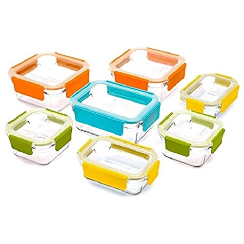 Glasslock Premium Food Storage Boxes, 18 Piece Set Container With Lids by Glassloc (Premium Storage Box)