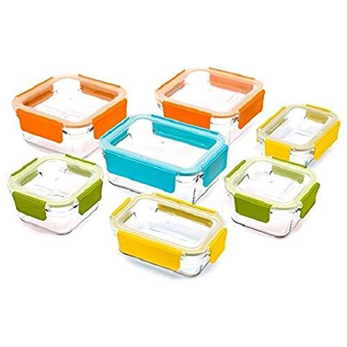 Glasslock Premium Food Storage Boxes, 18 Piece Set Container With Lids by Glassloc (Box Storage Premium)