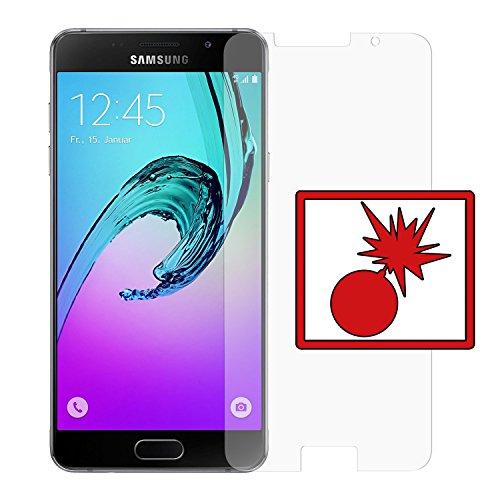 2 x Slabo Panzerschutzfolie passend für Samsung Galaxy A5 (2016) A510F NICHT A5 (SM-A500FU) Panzerfolie Bildschirmschutzfolie Schutzfolie Folie (verkleinerte Folien)