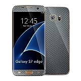 #5: STICK_ME Carbon Fiber Full Mobile Skin Decal for Samsung S7 Edge - Silver