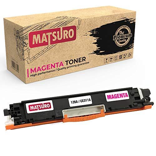 Matsuro Original | Kompatibel Tonerkartusche Ersatz für HP 126A CE310A CE311A CE312A CE313A (1 Magenta)