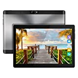 Kivors 10.1 pouces Tablette Tactile 3G -Android 7.0 MT6580 Quad Core -1.3GHz-1 RAM16 Go ROM - 800*1280 HD - Double Carte SIM Support TF Card- Double Caméra - Bluetooth 4.0 - Wifi pour Enfants Adults (Noir)