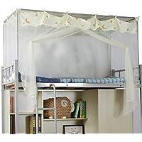 Moskitonetz Student Store Einzelbett Polyester Atmungsaktiv Beige Moskito-Kontrolle Zipper Staub Geeignet für 4 Fuß Bett
