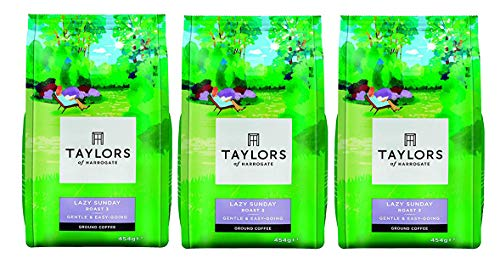 Taylors of Harrogate Lazy Sunday Ground Coffee, 454 g, Pack of 3