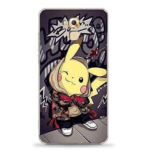 Easbuy Handy Hülle Soft TPU Silikon Case Etui Tasche für Oukitel U16 Max Smartphone Bumper Back Cover Handytasche Handyhülle Schutzhülle
