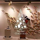 jiuyaomai Série de Noël Stickers muraux Salon Chambre fenêtre Verre de noël décoration Stickers muraux 84x43cm
