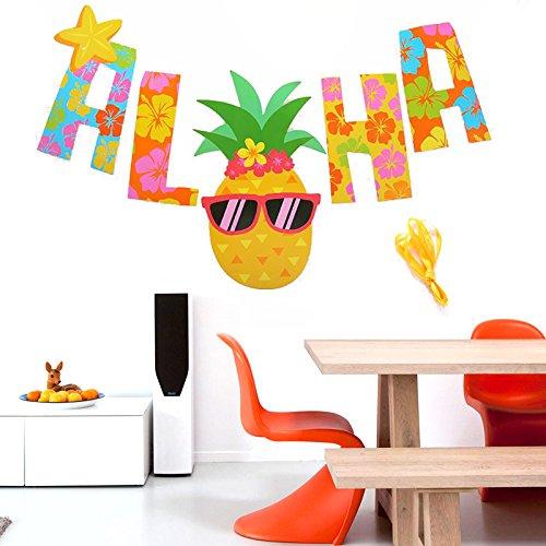 Kicode-Flores-de-pia-WordArt-Impresin-en-color-Tema-de-fiesta-tropical-Juguetes-para-nios-Piscina-de-verano-Decoracin-festiva