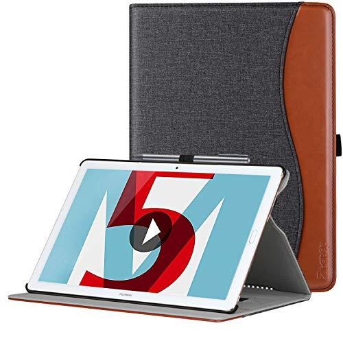 Ztotop Hülle für Huawei MediaPad M5 /M5 Pro 10.8 Zoll 2018, Premium Kunstleder Leichte Case mit Auto Schlaf/Wach Funktion & Pen Halter, für Huawei MediaPad M5 10.8 Zoll 2018 Modell, Denim Schwarz