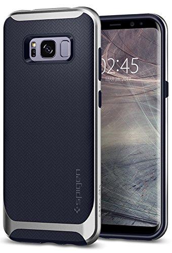 Funda-Galaxy-S8-Plus-Spigen-Carcasa-Neo-Hybrid-Proteccin-interna-flexible-y-marco-reforzado-de-parachoques-duro-para-Galaxy-S8-2017-Plata